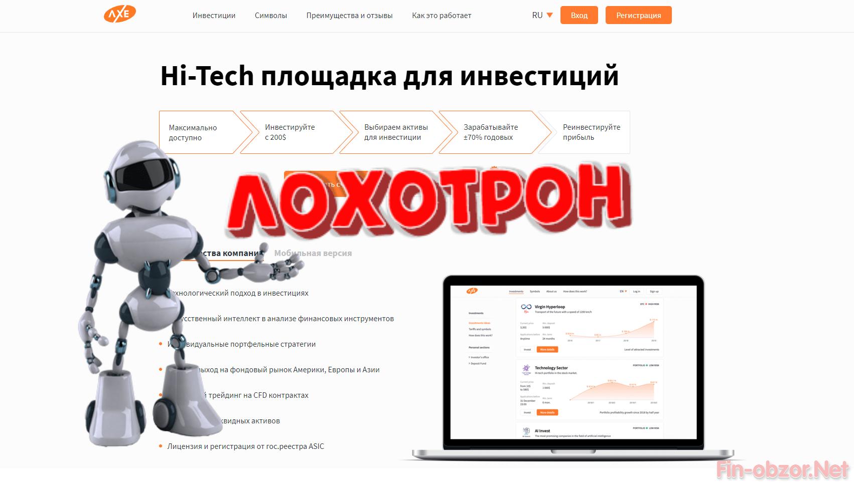 Брокер Axe&Co - какие отзывы Репутация axe-co.com