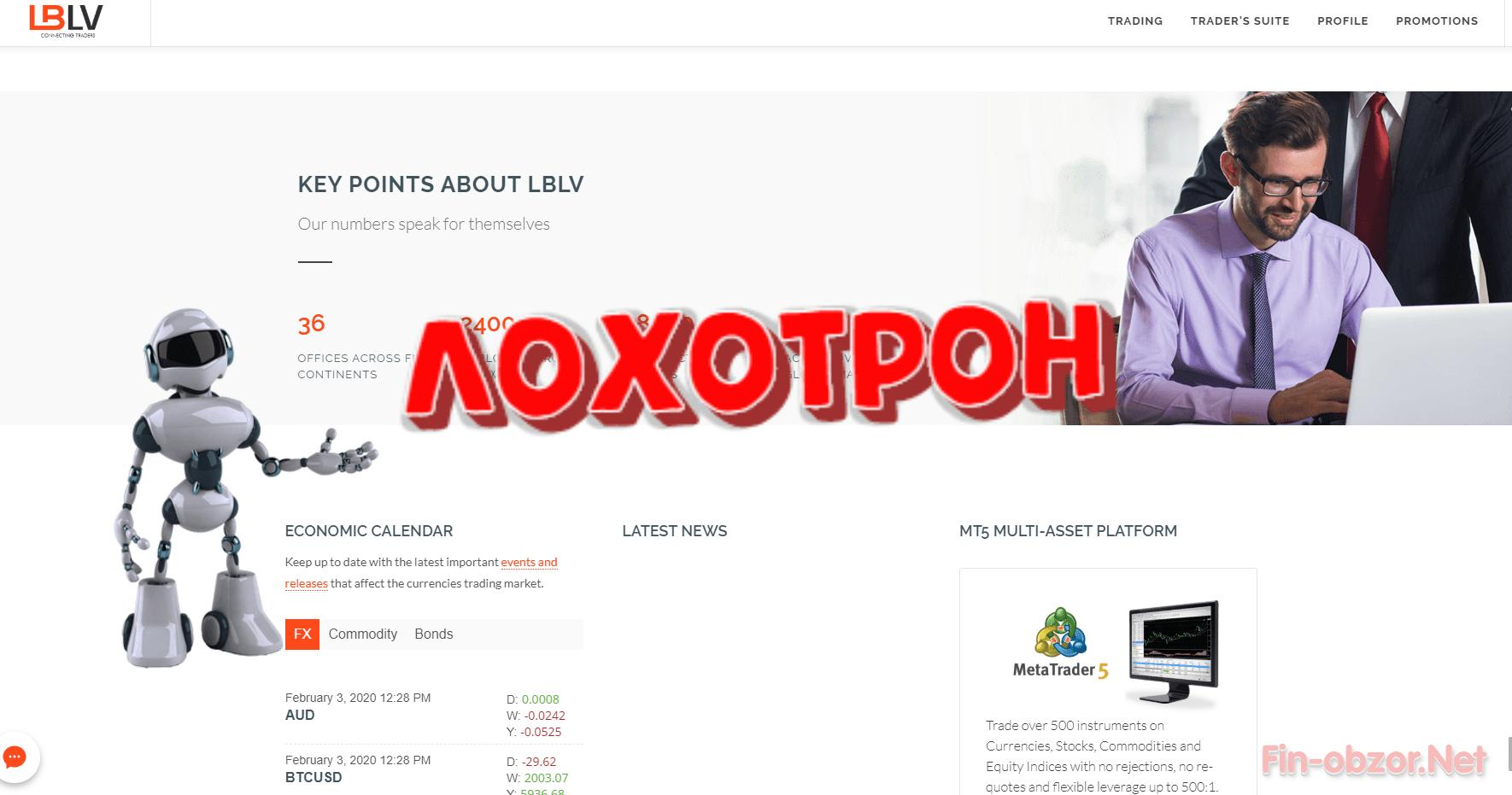 LBLV (lblv.ru) - отзывы. Выводят деньги