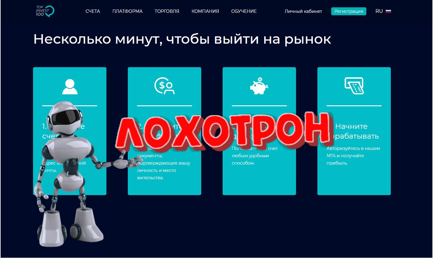 Top Invest 100 - отзывы и обзор. Topinvest100.com развод?