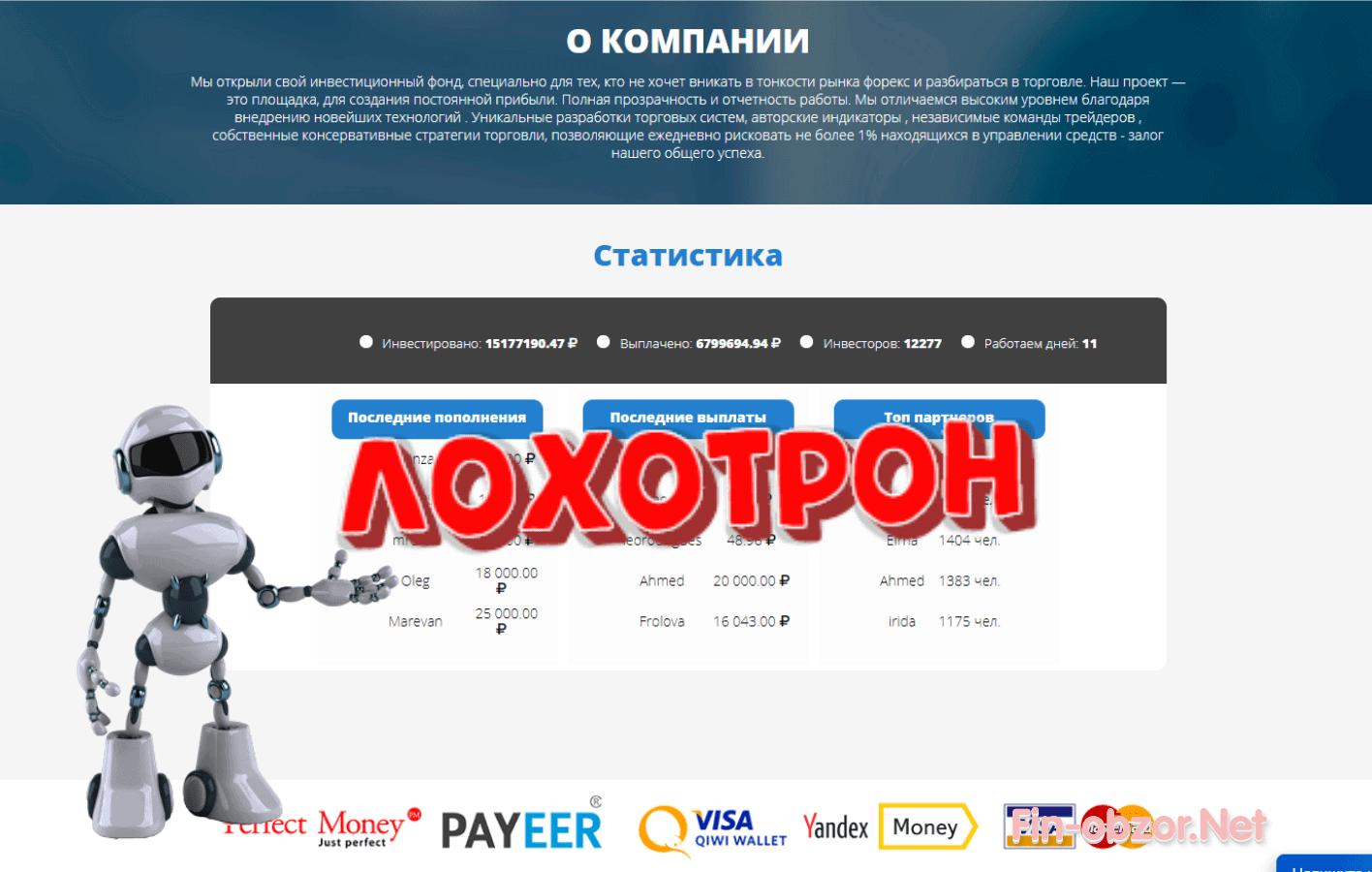 Invest Company (invest-company.net) – отзывы и проверка. Развод