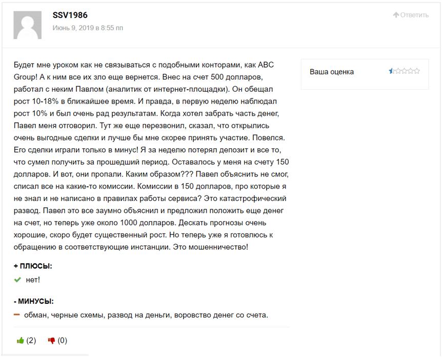 Реальные отзывы о брокере abcfx.group