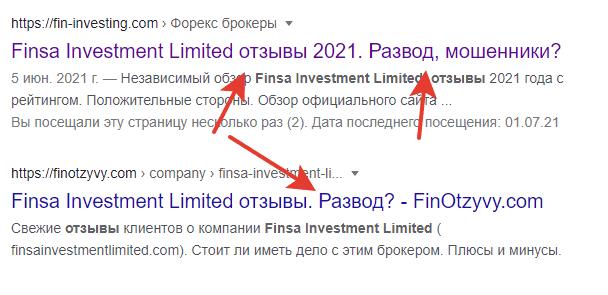 Finsa Investment Limited отзывы